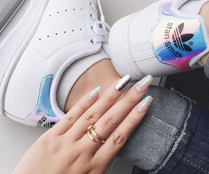 adidas, nails, and fashion image