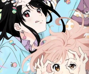 girl, pastel, and mirai kuriyama image