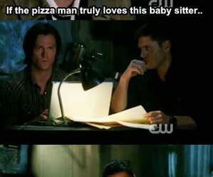 supernatural, funny, and castiel image