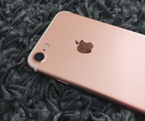 iphone, rose gold, and love image