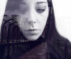 cyberpunk, glitch, and future image