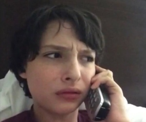 stranger things, finn wolfhard, and reaction image