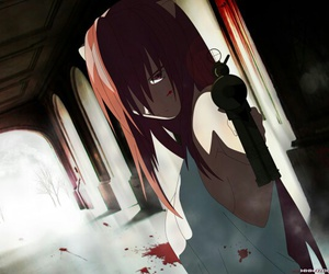 elfen lied, anime, and Lucy image