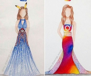 draw, dress, and instagram image