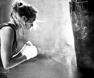 badass, workout, and boxing image