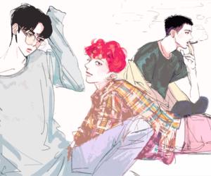 chibi, exo, and fanart image