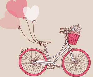 pink, love, and bike image