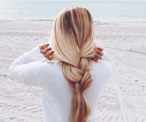 beauty, blond hair, and long hair image