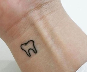 fanatic, tattoo, and tooth image