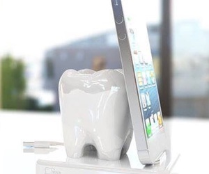 creative, iphone, and tooth image
