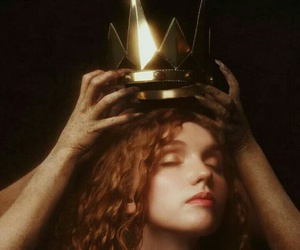 Queen, crown, and red hair image