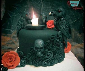 black, cake, and raven image