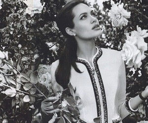 Angelina Jolie and flowers image