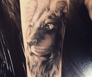 tattoo and lion image