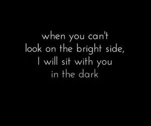 quotes, dark, and bright image