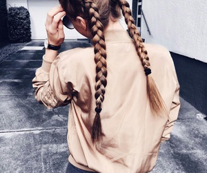 hair, braids, and style image