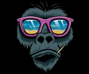 playa, gorila, and moño image