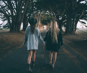 girl, friends, and autumn image