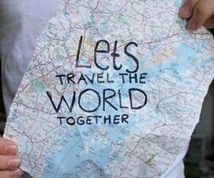travel, trip, and love image