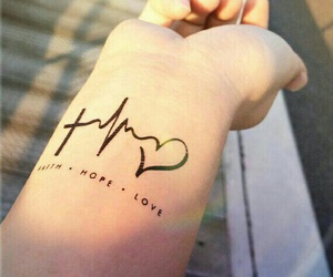 tattoo, hope, and faith image