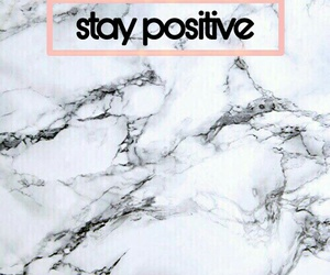 wallpaper, stay positive, and rosegold image
