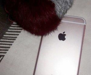 gray, iphone, and pompom image