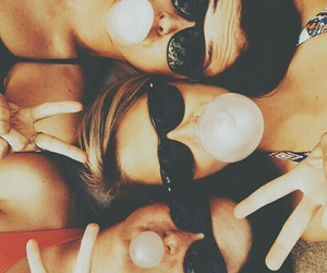 beach, sunglasses, and best friends image