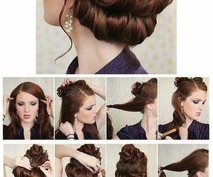 aesthetic, bun, and hair image
