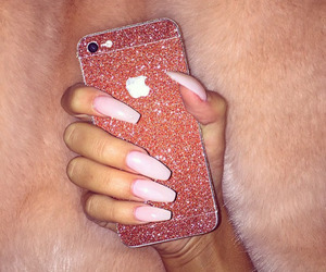nails, iphone, and fashion image
