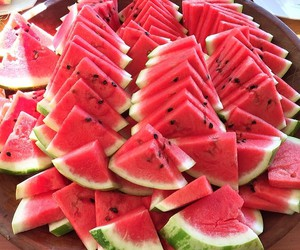 fruit, red, and watermelon image