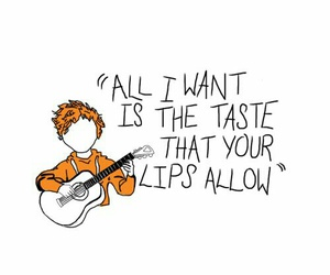 ed sheeran, give me love, and Lyrics image