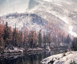 nature, mountains, and winter image