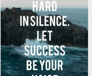 silence, success, and motivation image