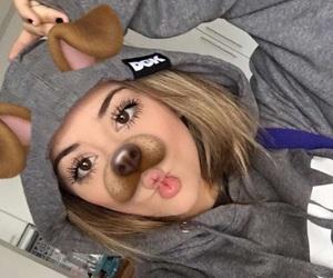 dog, girl, and snap image
