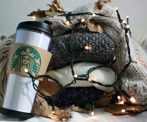 starbucks, light, and sweater image