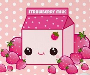leite milk morango ichigo image