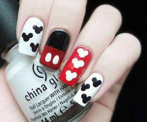 nails, disney, and mickey image