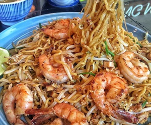 food, noodles, and shrimp image