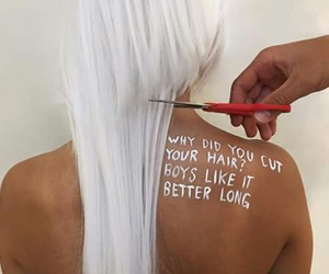 cut, long, and style image