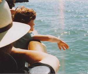 boy, sea, and water image