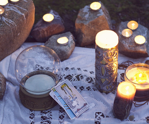 candle, cards, and magic image