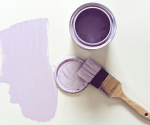 purple, paint, and aesthetic image