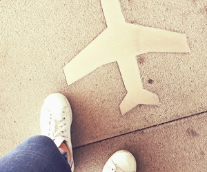 adidas, aeroplane, and airplane image