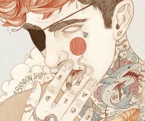 boy, art, and tattoo image