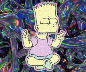 aesthetic, bart simpson, and colorful image