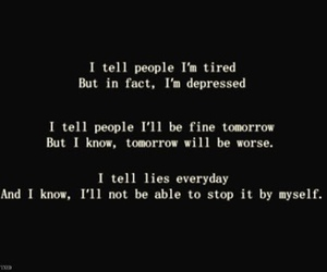 depressed, sad, and quotes image