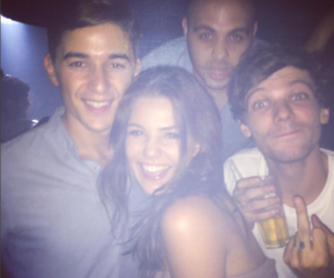 louis tomlinson, danielle campbell, and one direction image