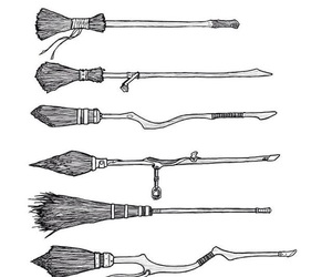 harry potter, broom, and hp image