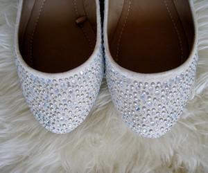 flats, rhinestones, and shoes image