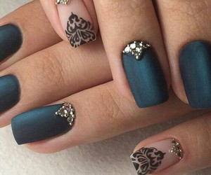 nails, art, and black image
